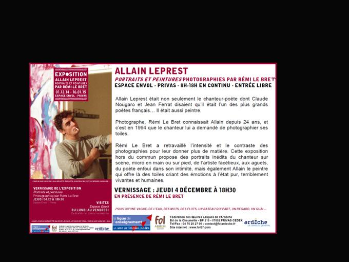 Expo FOL Privas 1 déc 2014/16 janvier 2015