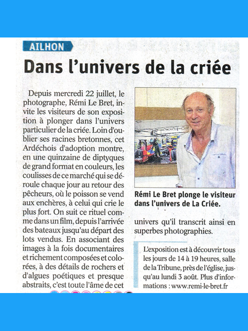Presse Le Dauphiné 28/07/2020