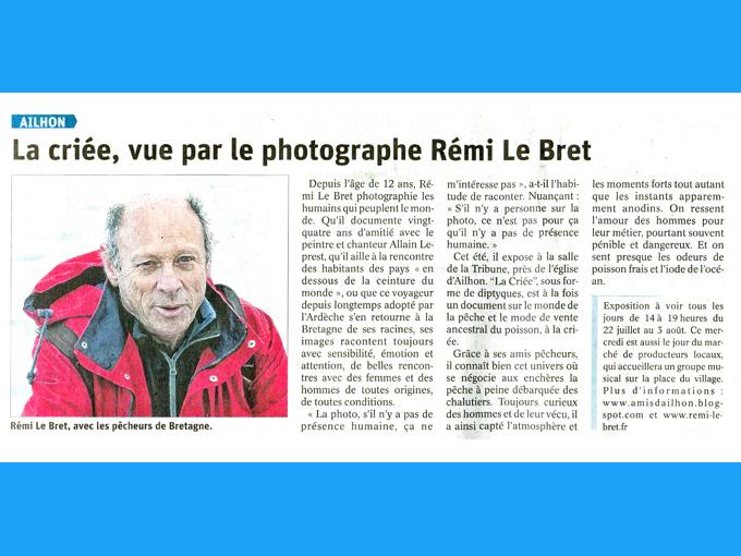 Presse Le Dauphiné (2020)