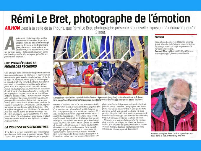 Presse L'hebdo de l'Ardèche (2020)