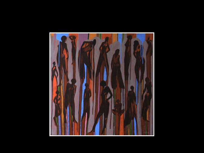 Les femmes du contre jour (80 x 80)